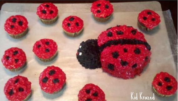 we have a Ladybug birthday cake recipe that would be adorable for any little girl's birthday - without breaking the bank!