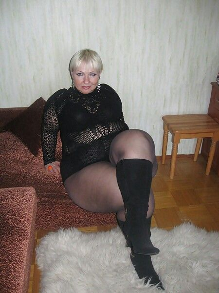 Thick legs old granny the