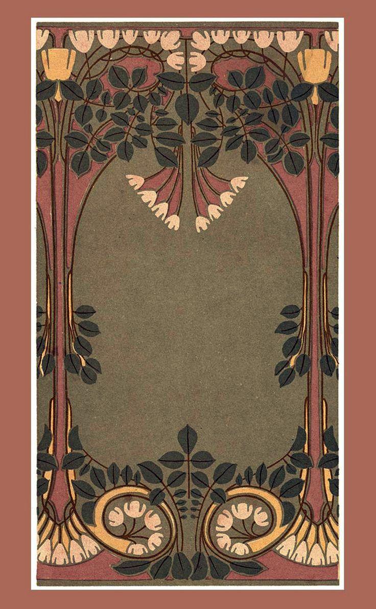 ART NOUVEAU design showing lotus flowers - Egyptian Revivalist influence on Art Nouveau and Art Deco