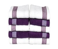 Image result for white and purple hand towels