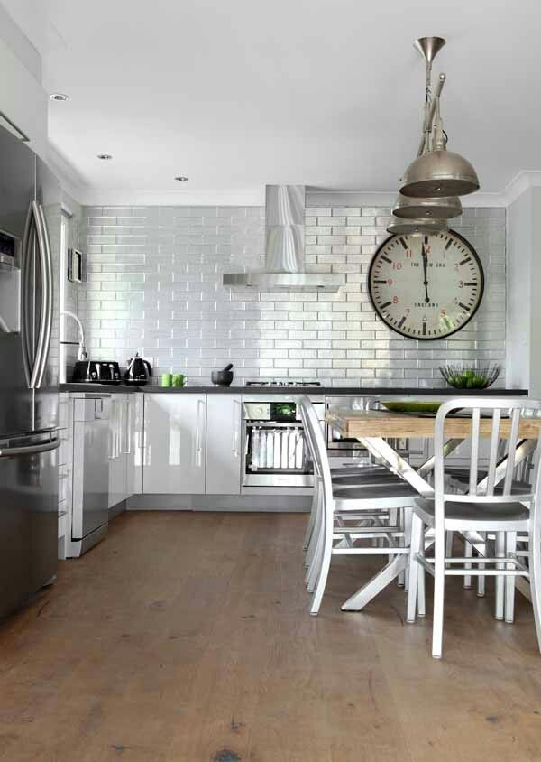 House Rules Amy And Sean Kitchen Industrial Country Kitchen Dining Room Pinterest