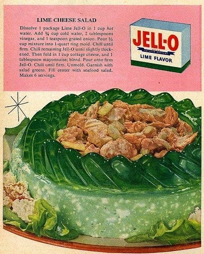 Lime Cheese Salad   21 Truly Upsetting Vintage Recipes