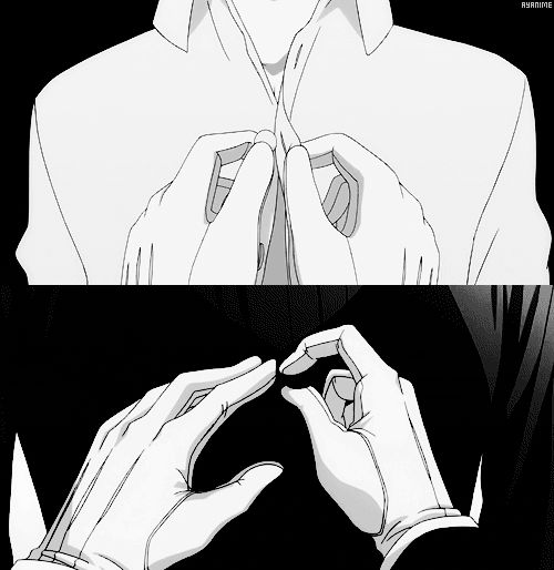 Ciel Phantomhive and Sebastian Michaelis. Beginning and end.<<<<< I just finished season 2 so this hit me fight in the feels!!!