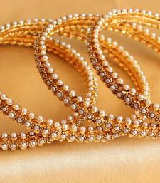 Buy GORGEOUS GOLD TONE PERAL BANGLES Online