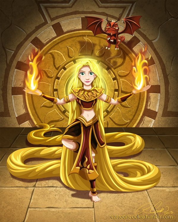 Disney Princesses in the world of Avatar The Last Airbender