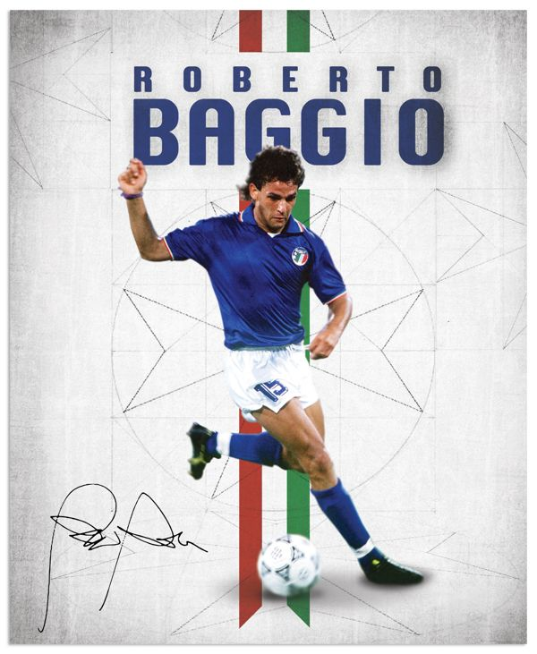 World Cup legends by Emilio Sansolini, via Behance #soccer #poster #baggio
