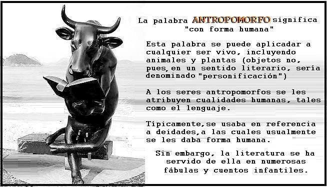 Figuras antropomorfas / Seres antropomorfos #LenguayLiteratura #StudiaHumanitatis