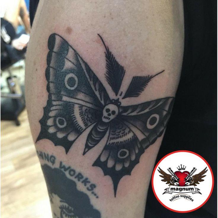 Death #moth piece by Mike C Davies Tattooer using #magnumtattoosupplies 👌👌👐