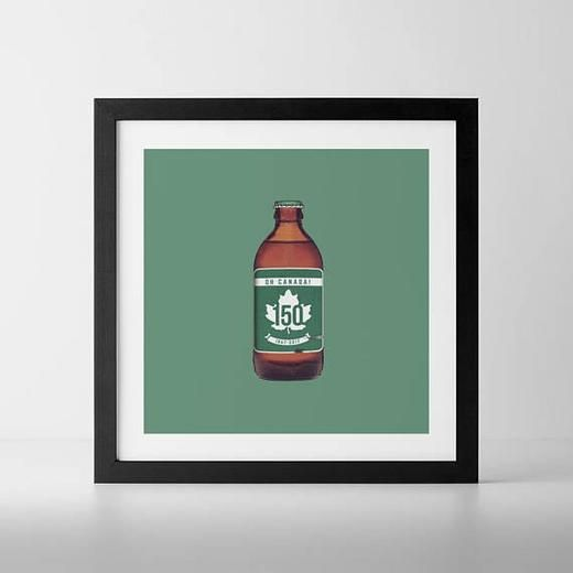 Trans-Canada 150 Stubby Beer Bottle Print - Hinterland Home