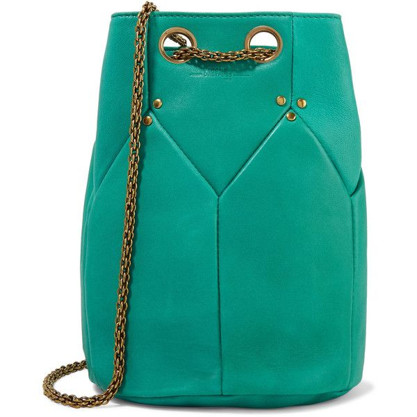 Jérôme Dreyfuss Popeye leather shoulder bag (112.865 HUF) ❤ liked on Polyvore featuring bags, handbags, shoulder bags, jade, green leather shoulder bag, green shoulder bag, leather shoulder bag, chain strap handbags and green handbags