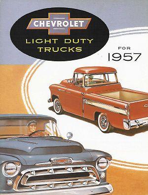 Chevrolet-1957-Camion-folleto-de-ventas-57-Chevy-Pick-Up