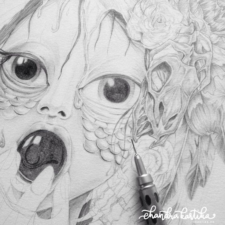 Artwork by Chandra Kartika Gunawan  see more in her instagram @mirenarde