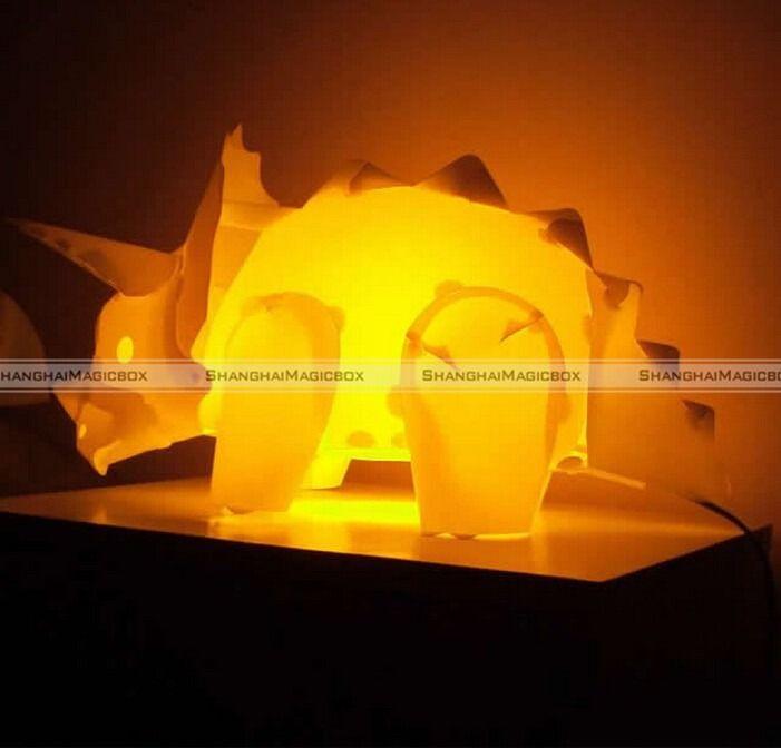 shanghaimagicbox bricolage triceratops dinosaur table lampe de bureau la nuit la lumire enfants enfants chambre dcor - Lamp Bureau Ado