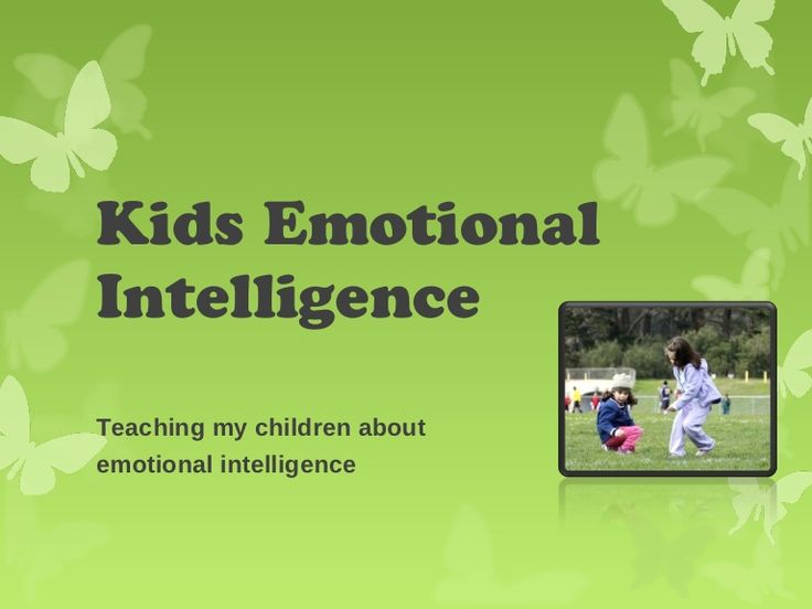 Teaching my children about  emotional intelligence