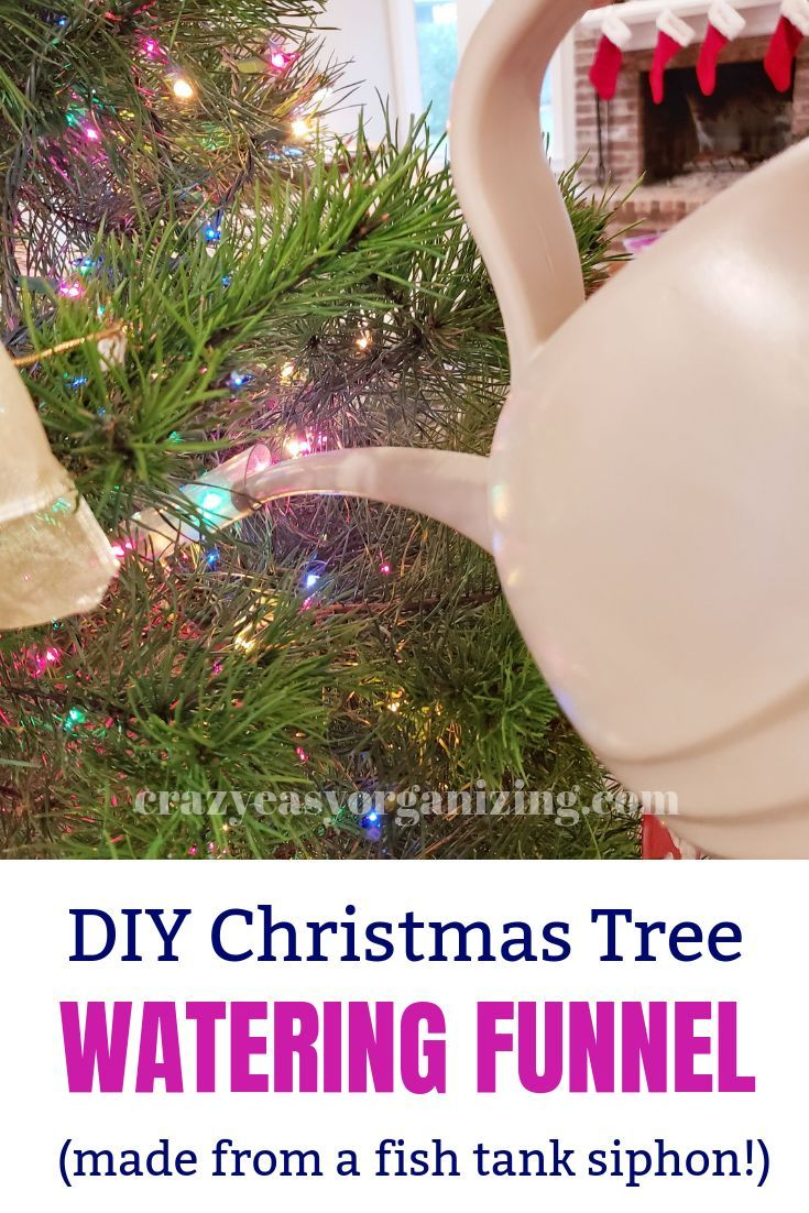9f69da7b48832 Make an easy DIY Christmas tree watering funnel from stuff you probably  already have! Holiday Hacks