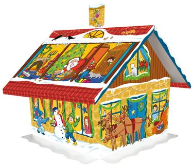 Advent House Chocolate Advent Calendar | Chocolate Advent Calendars | Imported From Germany | Vermont Christmas Co. VT Holiday Gift Shop