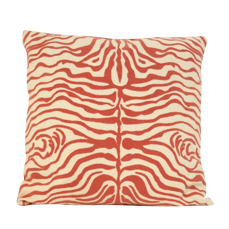 ZEBRA PEACH Pillow #summer #zebraprint