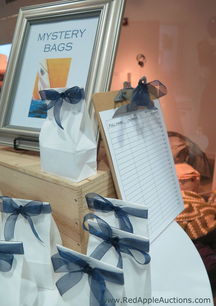 """Mystery bags sold at a """"Sail Away"""" -themed school auction"""