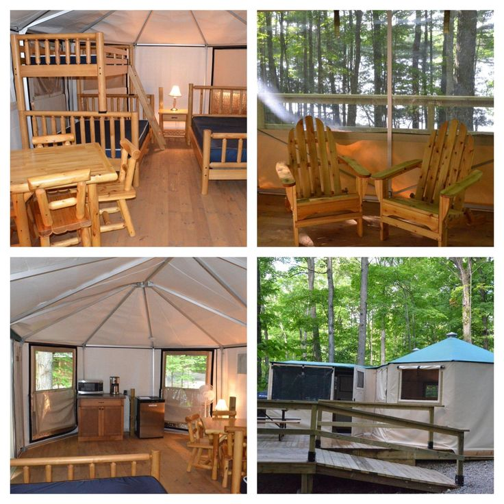 Deluxe Yurt - Murphys Point Provincial Park - http://www.ontarioparks.com/roofedaccommodation/