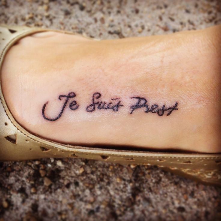 """Outlander Tattoo """"Je Suis Prest"""""""