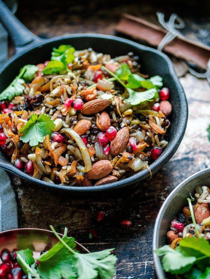 Taivaallinen libanonilainen jouluinen pähkinä-linssi-riisi eli Hashew (vegaani, glut.) – Viimeistä Murua Myöten