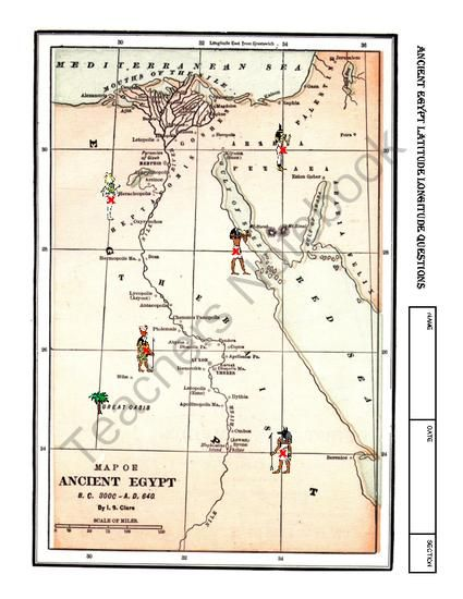 worksheet ancient egypt latitude longitude questions map from mrs mc 39 s shop on teachersnotebook. Black Bedroom Furniture Sets. Home Design Ideas