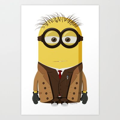 10th Doctor Who Minion, Art Print by Henrik Norberg
