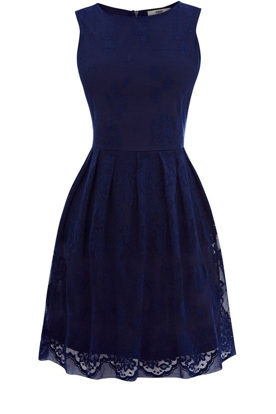Navy lace dress. So pretty. Bridesmaid dresses sweet