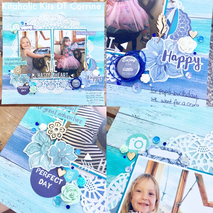 Hi guys! Welcome to the new year and an awesome new kit! So excited to dig into the new embellishment kit, so many things in this kit to play with. So my first layout was kinda hard, I wanted to use all of the things but once in the flow it came together pretty easily. I really like how the pops of silver go with the blues and white, it's so pretty. I kept the layering pretty simple with this one only using the teal cardstock to back the pics and something unusual for me using patterned…