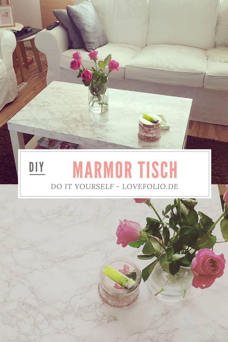 INTERIOR / WOHNEN / Do it Yourself (DIY): Tisch in Marmoroptik / Marmor Tisch