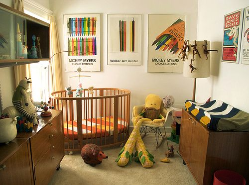 Wary baby room- all flea, garage sale, craigslist, and thrift.