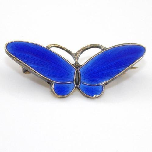 Vtg Finn Jensen Sterling Silver Modernist Blue Enamel Butterfly Pin Brooch BR in Jewelry & Watches, Vintage & Antique Jewelry, Vintage Ethnic/Regional/Tribal, Scandinavian | eBay