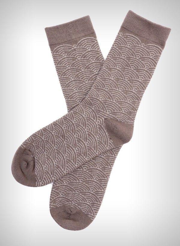 """Khaki Geomoon £4 bamboo socks (slightly thicker than thin)"" Pinned by @Katie Schmeltzer Lake"