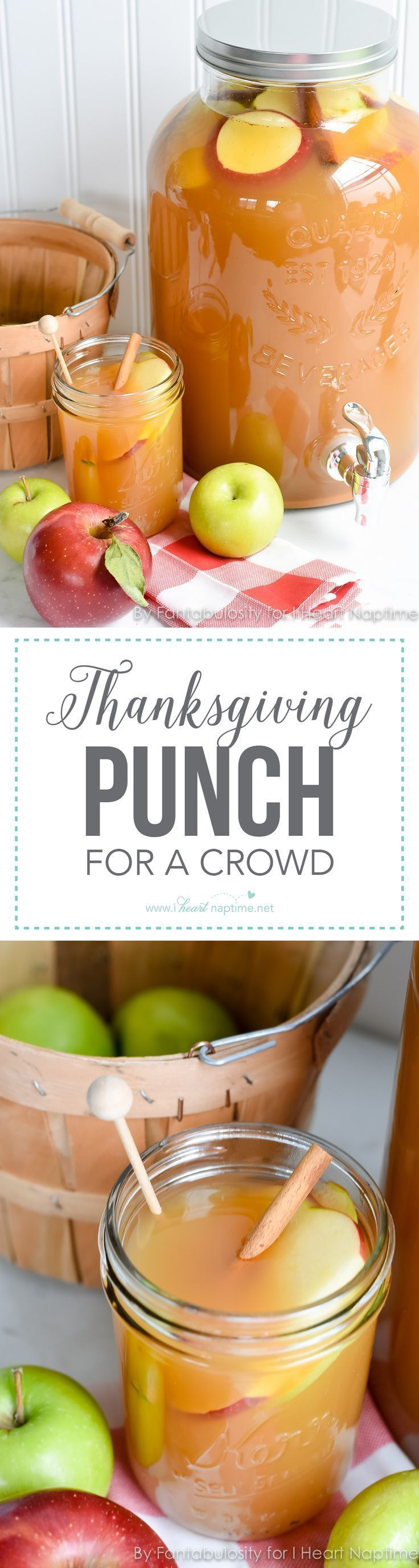 Thanksgiving Punch for a Crowd ...this easy, fall beverage favorite will be a delicious option this Thanksgiving when entertaining your family and friends!