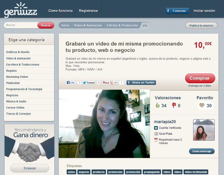Grabaré un video de mí misma promocionando tu producto, web o negocio http://www.geniuzz.com/mariapia20/grabare-un-video-de-mi-misma-promocionando-tu-producto-web-o-negocio-146#&panel1-1