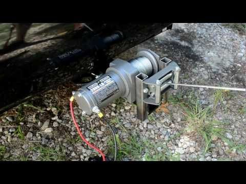 Mounting a HF 2000lb ATV Winch to Trailer Hitch - YouTube
