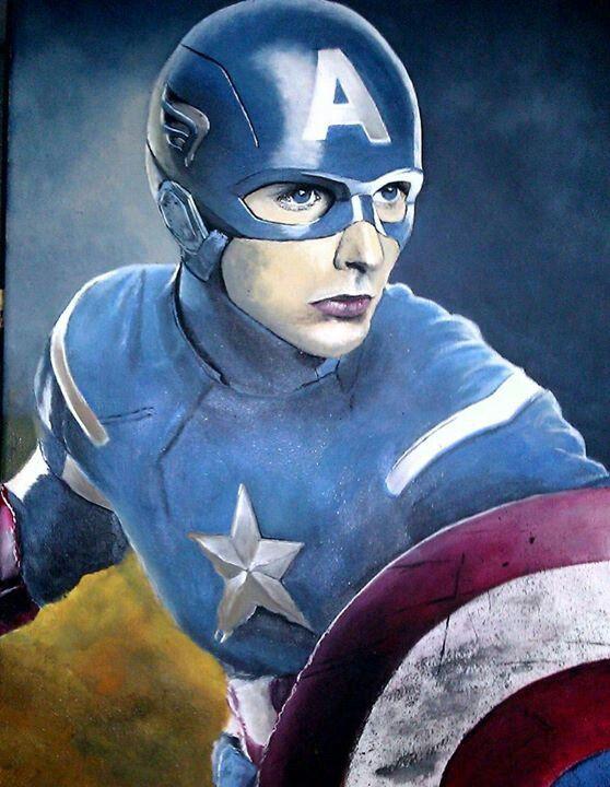 "The Captain America 16x20"" $100.00"