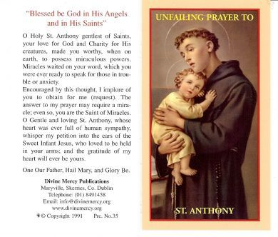 St Anthony Miracle prayer