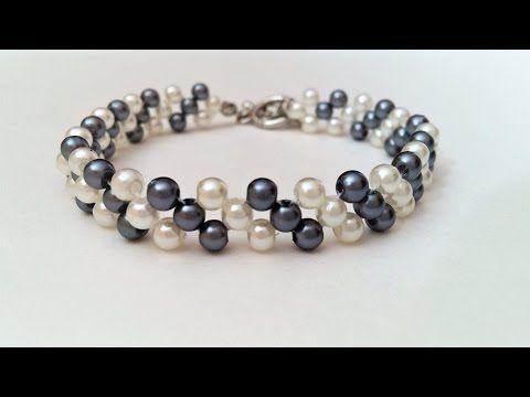 Easy Beading Pattern For Beginners. Motheru0027s Day DIY Bracelet   YouTube