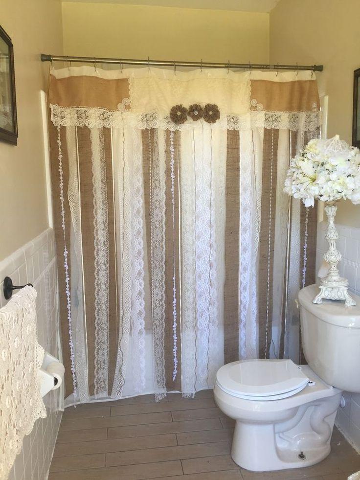 best 25 burlap shower curtains ideas on pinterest burlap shower shower curtain lengths and. Black Bedroom Furniture Sets. Home Design Ideas