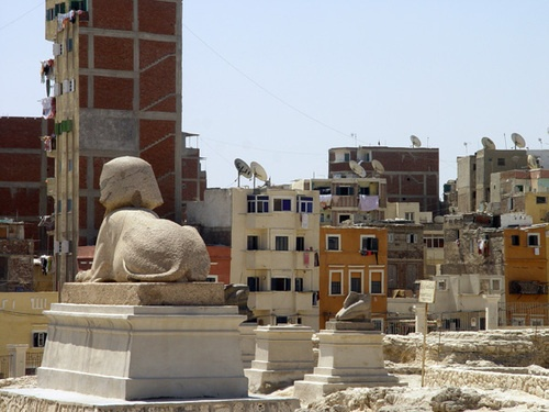 contrast in Alexandria, Egypt