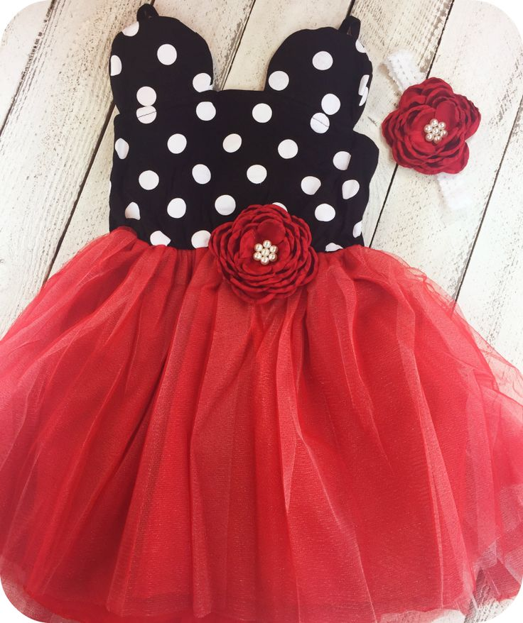 Red Minnie Dot Mouse Girl