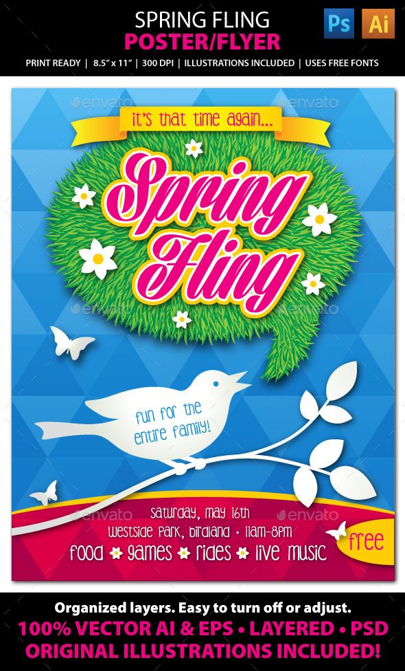 Best Spring Thing Images On   Event Posters Poster