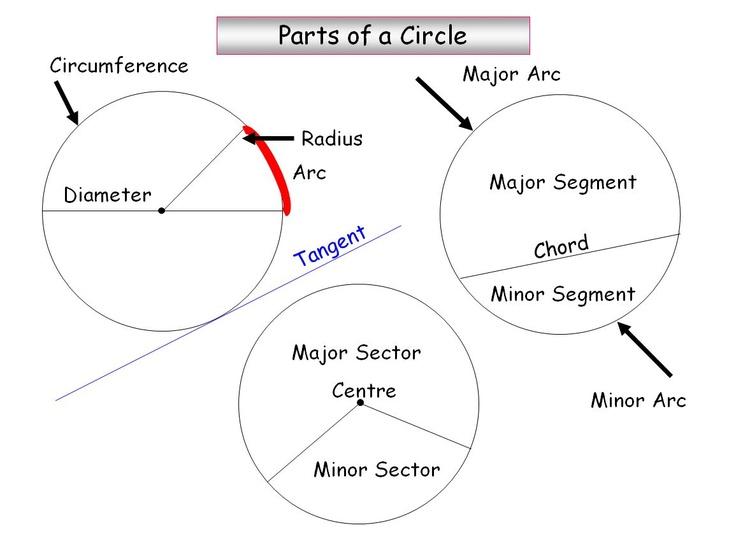 Parts of a circle - KS4 maths