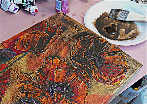 How to Add Incredibly Thick Texture to your Acrylic Paintings & How to Paint and Glaze your Textured Painting.  <3