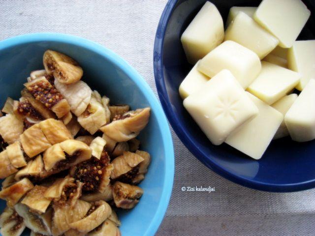 Karácsonyra hangolódás 1: Fügés-fehércsokoládés keksz