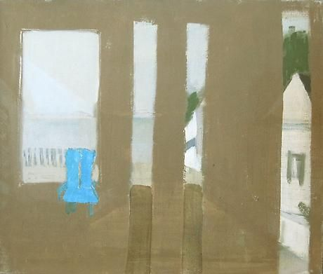 Janice Biala, Untitled (View of Bay, Provincetown) c.1965 oil with collage on canvas 15 x 18 inches
