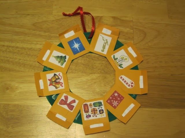 Christmas wreath with the true meaning of Christmas symbols/scriptures. Activity Days Christmas.