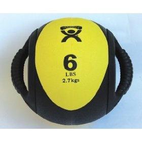 Cando Dual-Handle Medicine Ball, (exercise ball, fitness ball, medicine ball, core fitness, handles, aeromat, charles bronson, fitness, michael gordon peterson, solitary fitness)