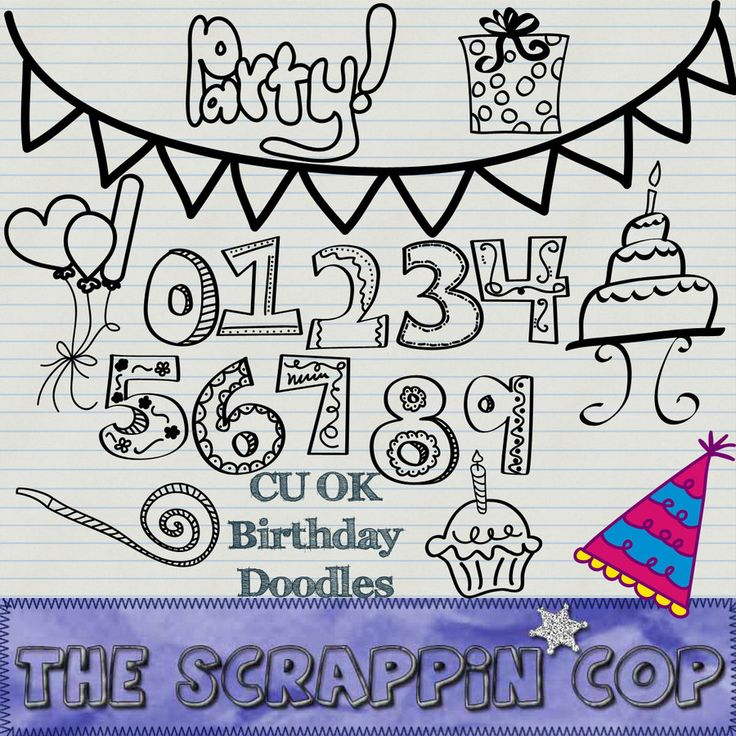 Birthday Doodle Shapes by debh945.deviantart.com on @deviantART